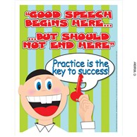 boy with key practice is the key good speech